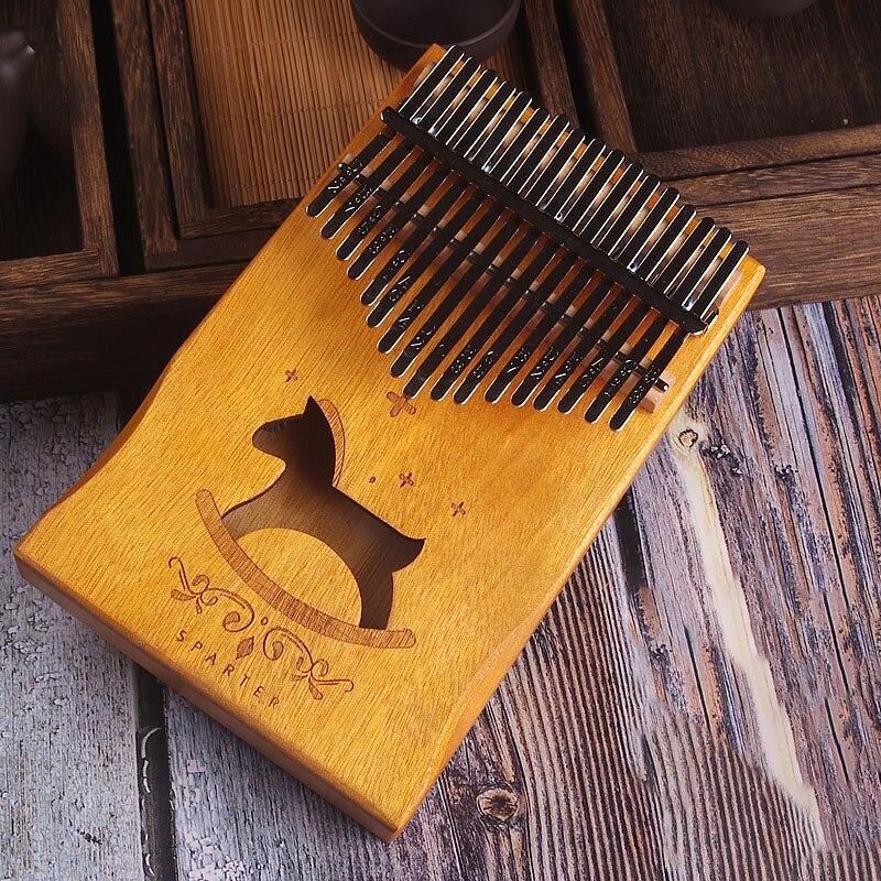 17 Keys Kalimba African solid Mahogany Thumb Piano 17 keys Solid Wood Kalimba Musical Instrument High-Quality Wood Finger Piano enlarge