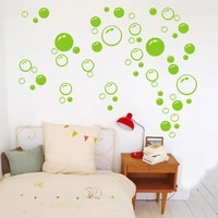 Bulles cercle papier peint amovible salle de bain fenetre autocollant mural maison bricolage PVC stickers muraux