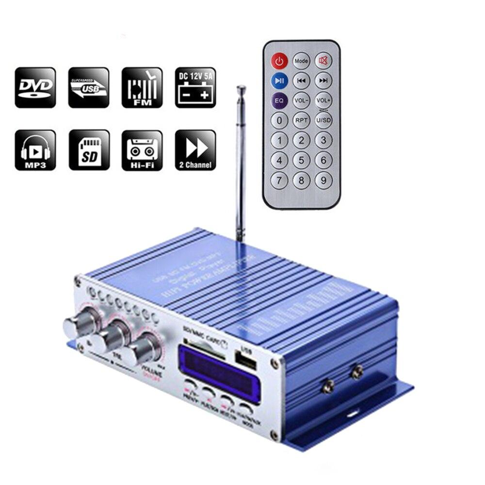 HY-502S coche Bluetooth AMPLIFICADOR DE POTENCIA ESTÉREO de alta fidelidad 2x20W FM Audio reproductor Digital