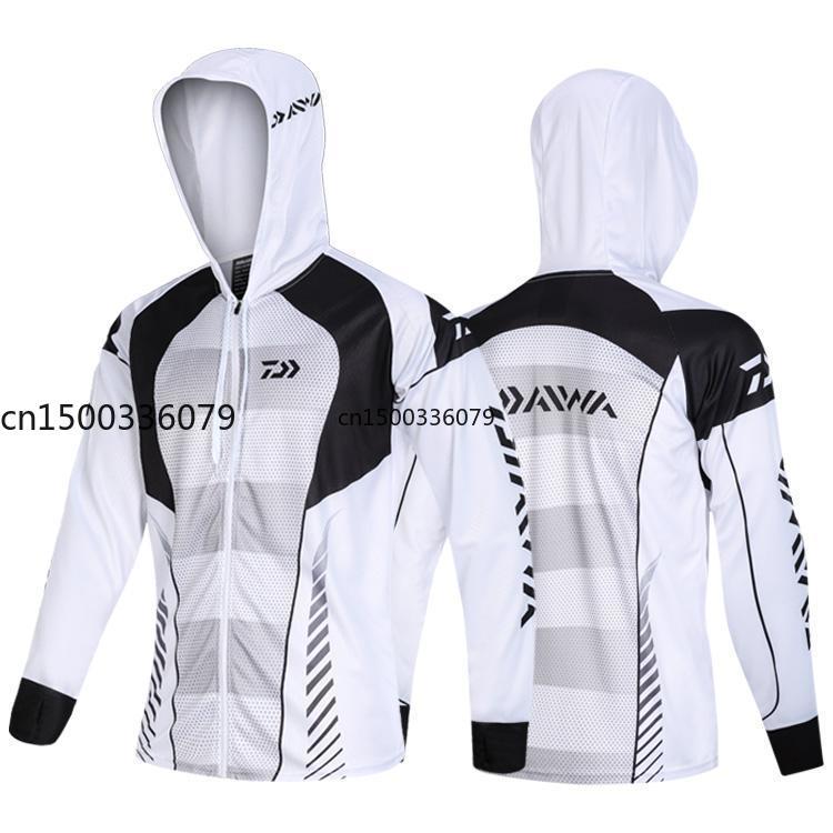 ¡Novedad de 2020! Daiwa, ropa de pesca para correr, ropa de pesca para hombres, chaqueta con cremallera a prueba de viento, abrigo antimosquitos, Jersey de pesca
