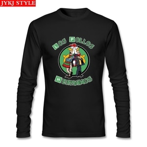 Bad Los Pollos Breaking Bad T Shirt Long Sleeve Custom Tshirt Men Popular Cosplay Cotton Funny T-shirts