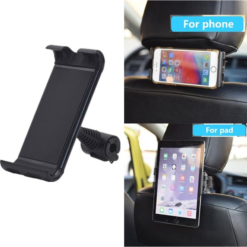 "360 ° de rotación reposacabezas de coche soporte de teléfono Universal Tablet Holder asiento trasero soporte para iphone iPad 4 ""- 12"" Tablet PC"