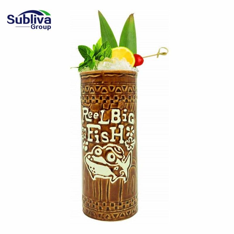 Гавайская Коктейльная чашка, кружка для пивных напитков, кружка для вина, керамическая, отлично подходит для коктейльных напитков, большой ...