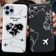 Wereldkaart Reizen Gewoon Gaan Telefoon Case Voor Iphone 11 Pro Xs Max X Xr 7 8 6 6S plus 5 5S Se 2020 Silicone Soft Tpu Cover Coque