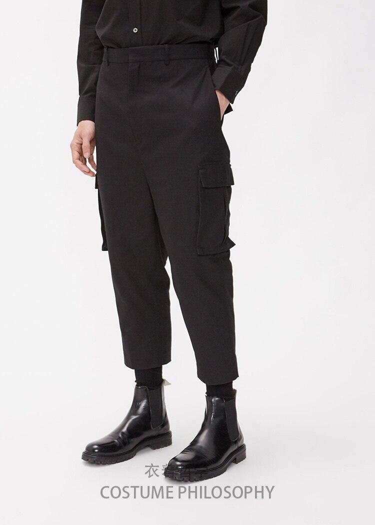 الرجال الملابس الجديدة أسلوب بسيط وكلاسيكي الأدوات تسع نقاط السراويل الترفيه ضئيلة بنطلون مصفف الشعر حجم كبير