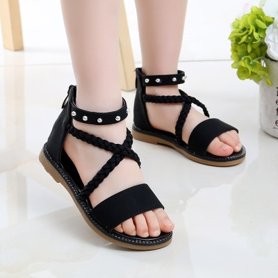 Sandalias de princesa para niñas, Zapatos de playa de suela blanda, de...