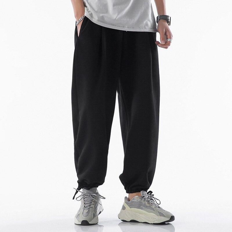 Мужские хлопковые брюки, однотонные мужские шаровары, летние штаны для тренировок, повседневные штаны, уличная одежда, мужские тонкие штаны