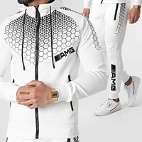 new 2 pieces sets tracksuit printing men hooded sweatshirtpants pullover hoodie sportwear suit casual sports men clothes