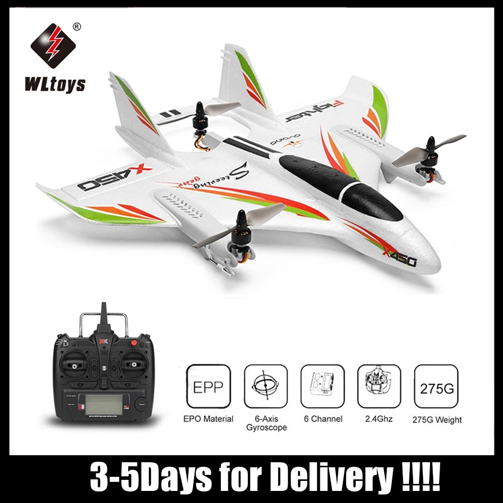WLtoys-avión XK X450 2,4G 6ch 3D/6G Motor teledirigido sin escobillas de despegue...