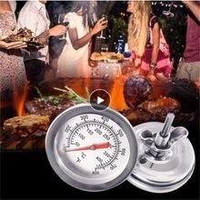 Termómetro para parrilla, dispositivo de medición de temperatura, para barbacoa, Pit de carbón vegetal, cocina, Fahrenheit/℃