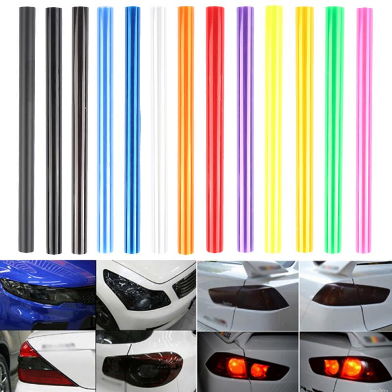 Pegatina de luz para coche de 30*60 Cm, Película autoadhesiva, faro antiniebla, luz trasera, tono vinilo, película de Color, 3 capas, accesorios para coche
