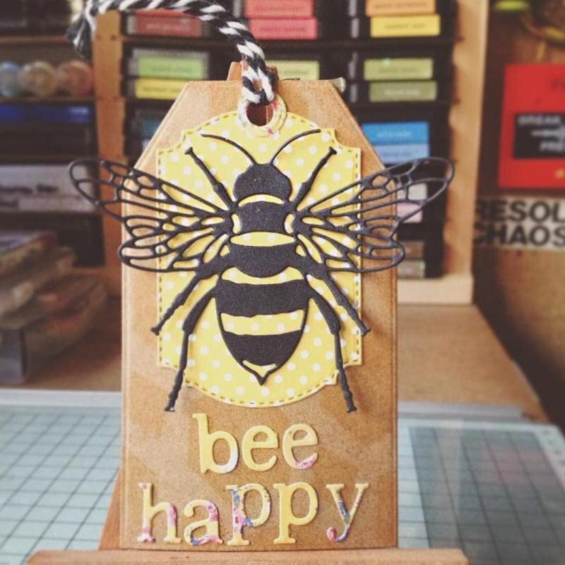 KSCRAFT Bee Metal troqueles plantillas para bricolaje scrapbooking decorativo gofrado de papel DIY tarjetas