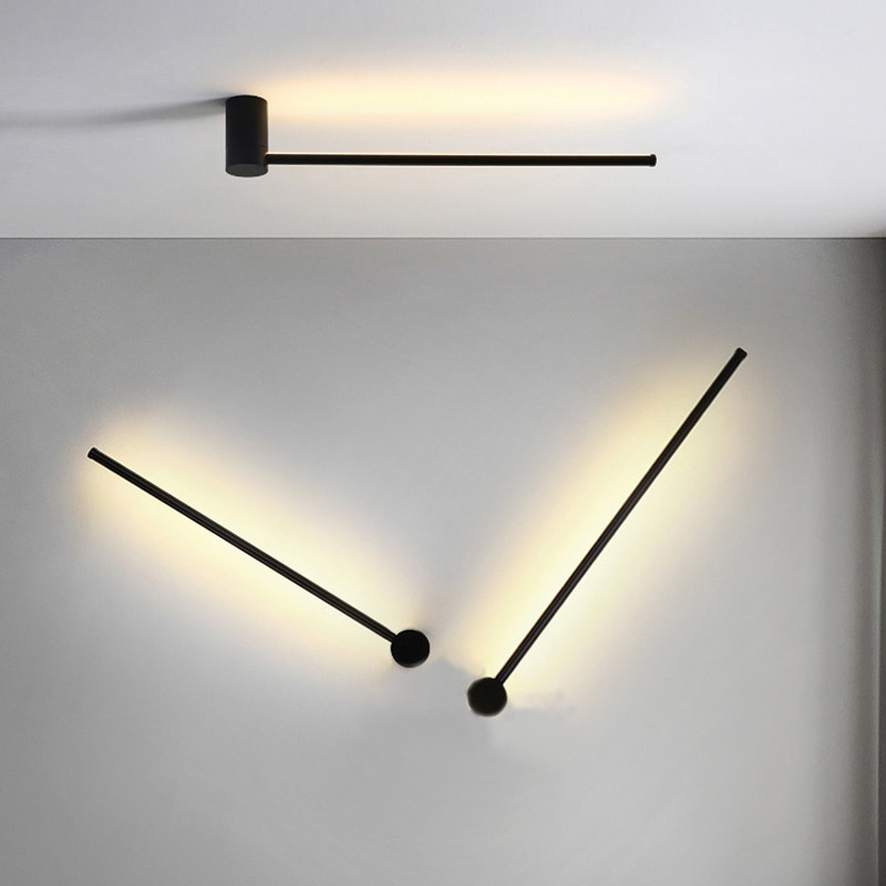 الحديثة وحدة إضاءة Led جداريّة مصابيح غرفة المعيشة غرفة نوم السرير الداخلية الجدار ضوء مرآة حمام أضواء أسود/الذهب داخلي الشمعدان تركيبات