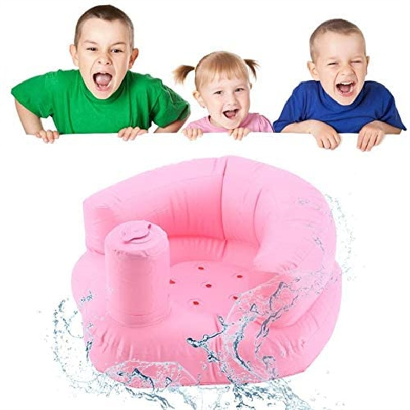 Multifunctional Baby Inflatable Sofa Children's Puf Portable Bath Chair PVC Inflatable Seat Baby Feeding Chair Puff Asiento