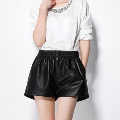 MESHARE New Fashion Genuine Sheep Leather Shorts G3