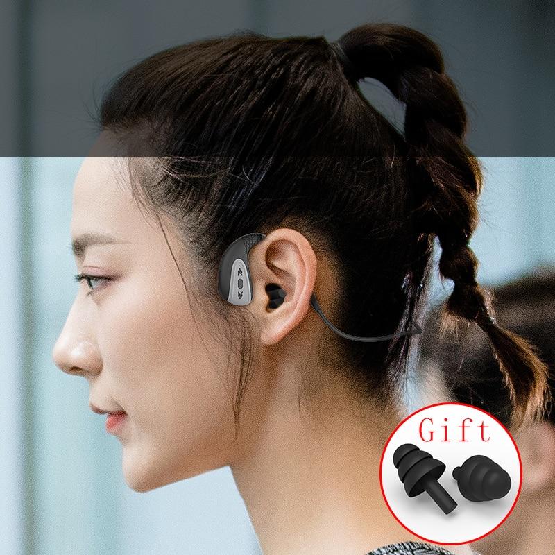 ddj Q1 Bone Conduction Headphone Built-in Memory 8G IPX8 Waterproof MP3 Music Player Swimming Diving Earphone 15 Days Standby enlarge