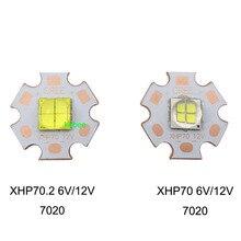 Epi светодиодный s 7070 20 Вт 12 В 6 в светодиодный заменить Cree MKR XHP70 XHP50 светодиодный излучатель холодный белый 6500K чип светодиодного освещения с 20 мм медной печатной платой