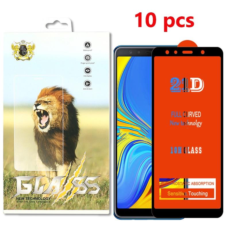 10pcs 21D de vidrio templado completa para VIVO Y7s Y11 Y17 Y90 V17 Pro X27 Z1X Z5X S1 U1 U3 U10 IQ003 Protector de pantalla con el paquete