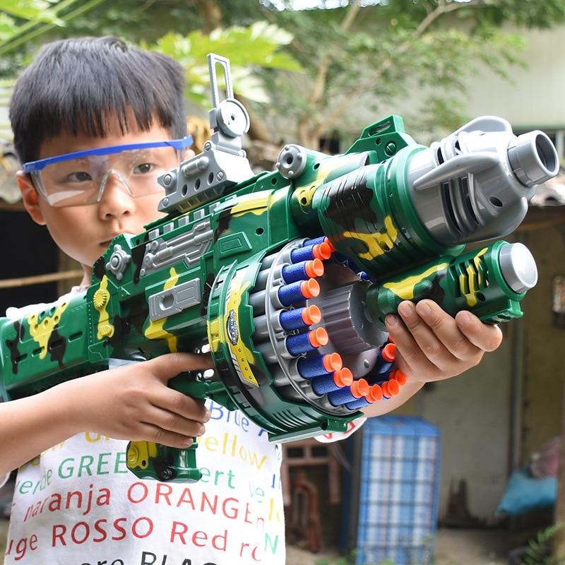 Soft EVA Children's Electric Burst Toy Gun 80 Rounds Soft Bullet Gun Outdoor Parent-child Toy Soft Bullet Plastic Toy Pistol
