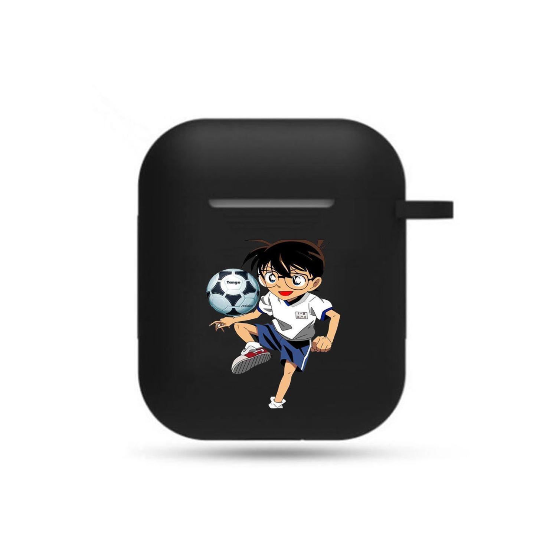 Hot anime Detective Conan Earphone case Headphone Protective Case Unisex black Airpods Bluetooth Headset Cover