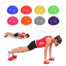 Demi-sphère gonflable balles de Yoga PVC Massage Fitball exercices entraîneur équilibrage balle pour gymnastique Pilates Sport Fitness nouveauté