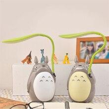 Luces LED de noche de Totoro con dibujos animados para niños, lámpara de mesa plegable con carga USB, creativa, Animal, decoración de habitación