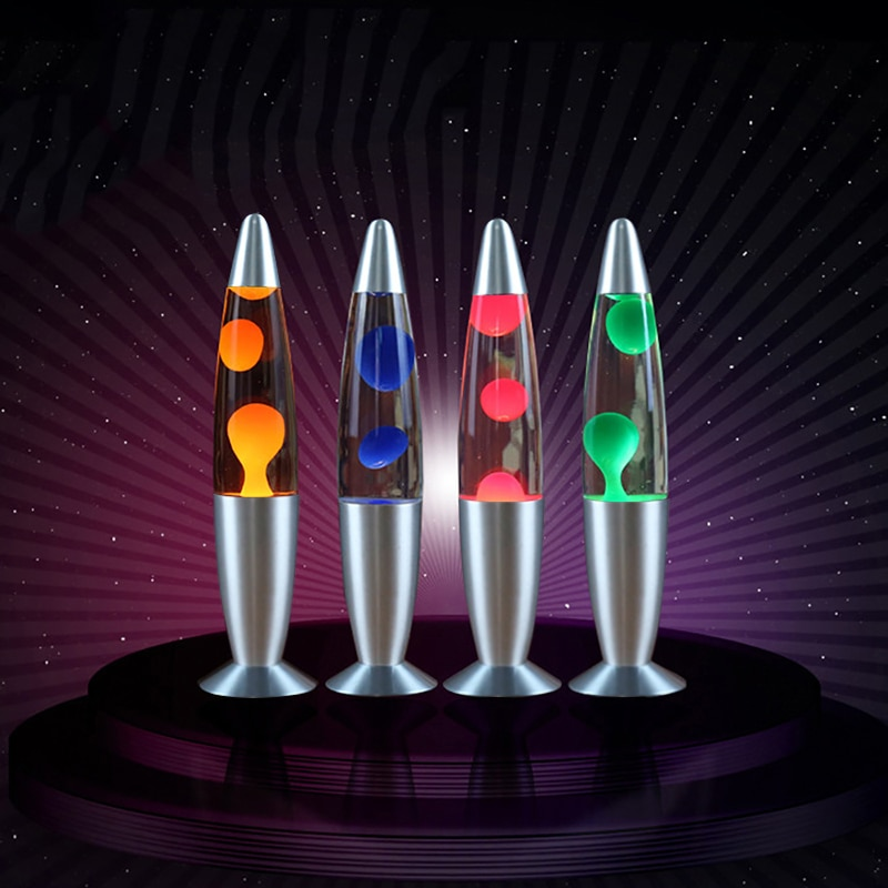 Lámpara LED de noche Dozzlor de Lava, Lámpara decorativa de medusas, lámpara de noche para dormitorio, decoración creativa para el hogar, enchufe europeo/estadounidense 2019