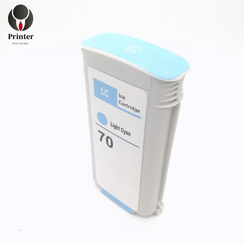 Printer-Partner replacement ink cartridge 70 C9390A Light Cyan compatible for hp Z2100 Z3100 Z3200 Z5200 Z5400 printer