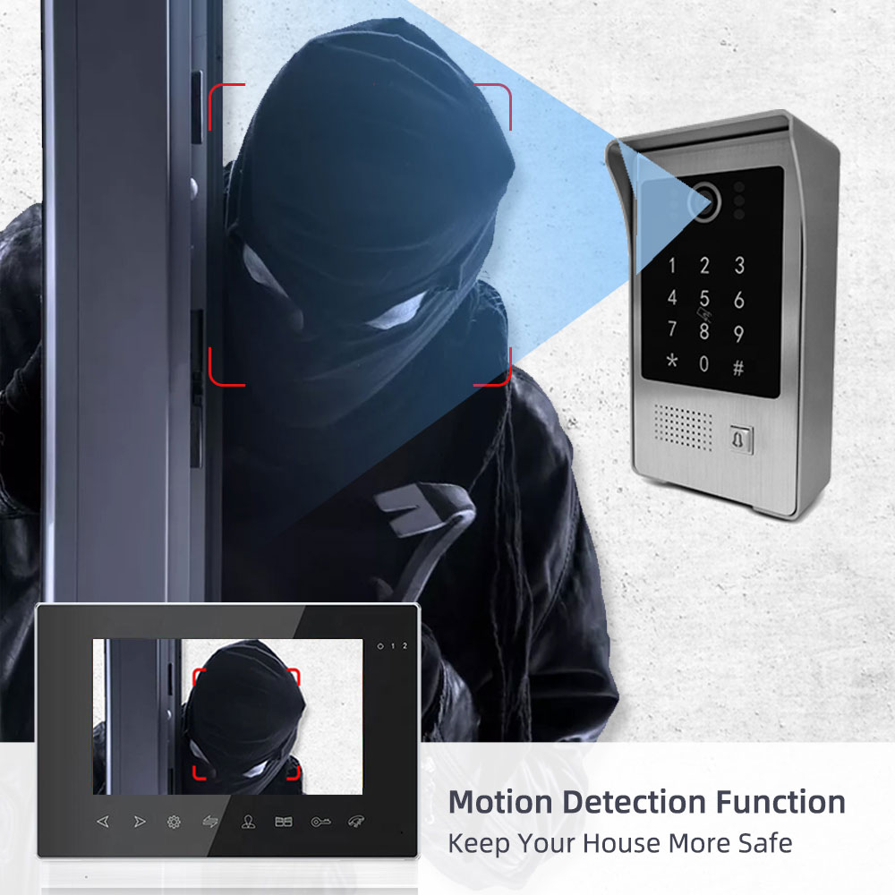 New 7 Inch Wireless Wifi Video Intercom for Home IP Video Doorbell Password Tuya APP Unlock AHD Screen Wifi Intercom System enlarge