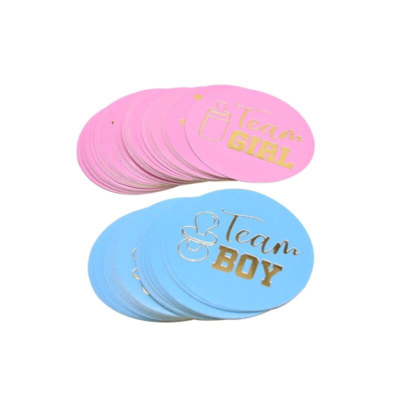 24/48 pçs equipe menino equipe menina adesivos gênero revelar menino ou menina papel adesivos chá de bebê diy scrapbook cookies pacote suprimentos