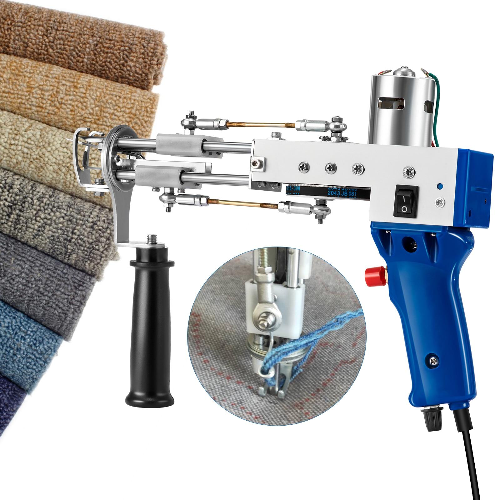2021 Electric Carpet Tufting Gun Hand Gun Carpet Weaving Flocking Machine Cut Pile Weaving Flocking Machines Loop Pile Cut Rug enlarge