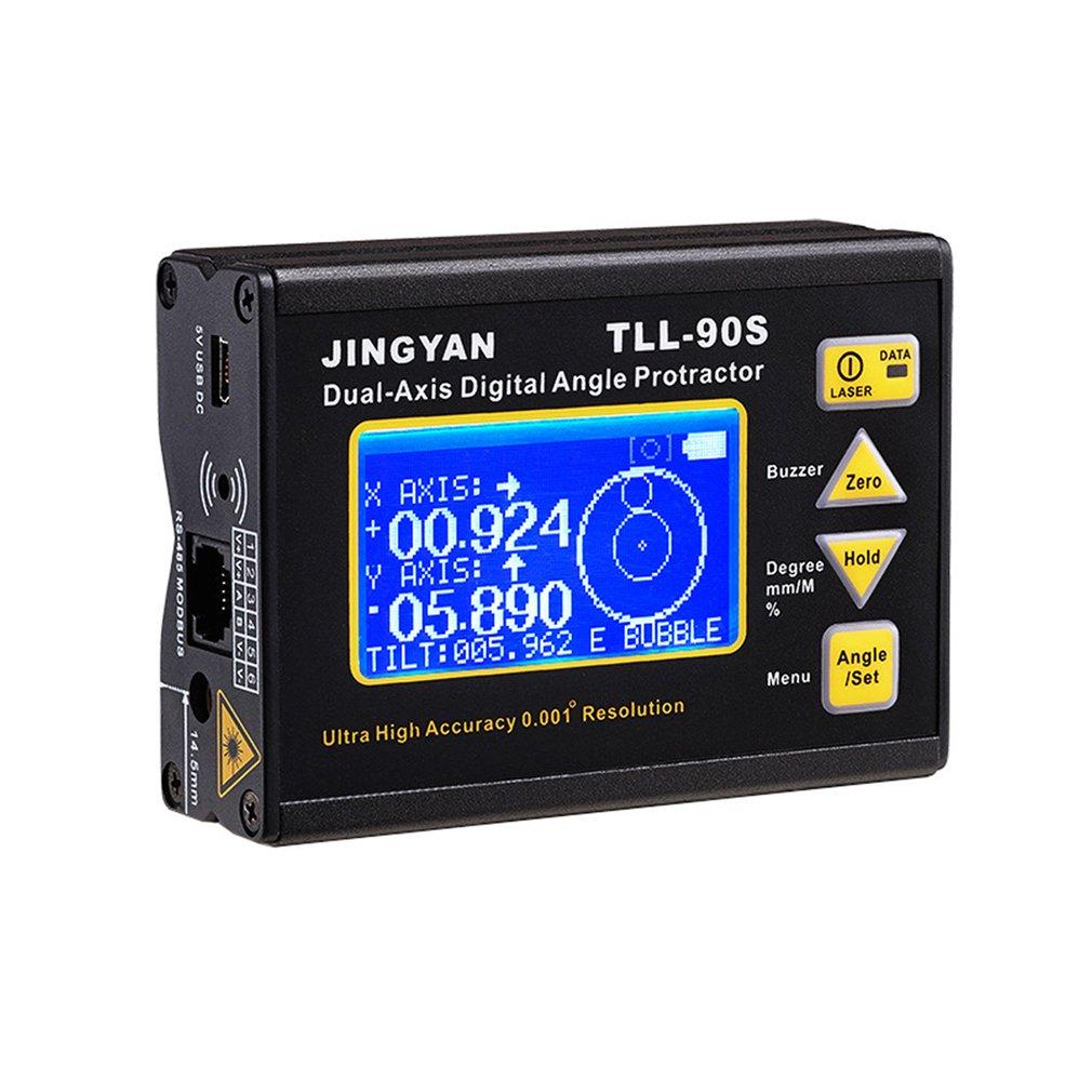 TLL-90S láser de alta precisión nivel pantalla LCD de ángulo de 0.005 Dual-eje nivel láser Digital inclinómetro