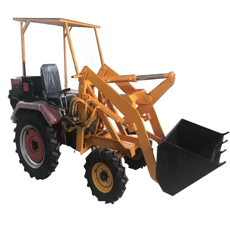 Loader construction shovel garbage small forklift greenhouse farm dedicated long arm wheel hydraulic electric loader