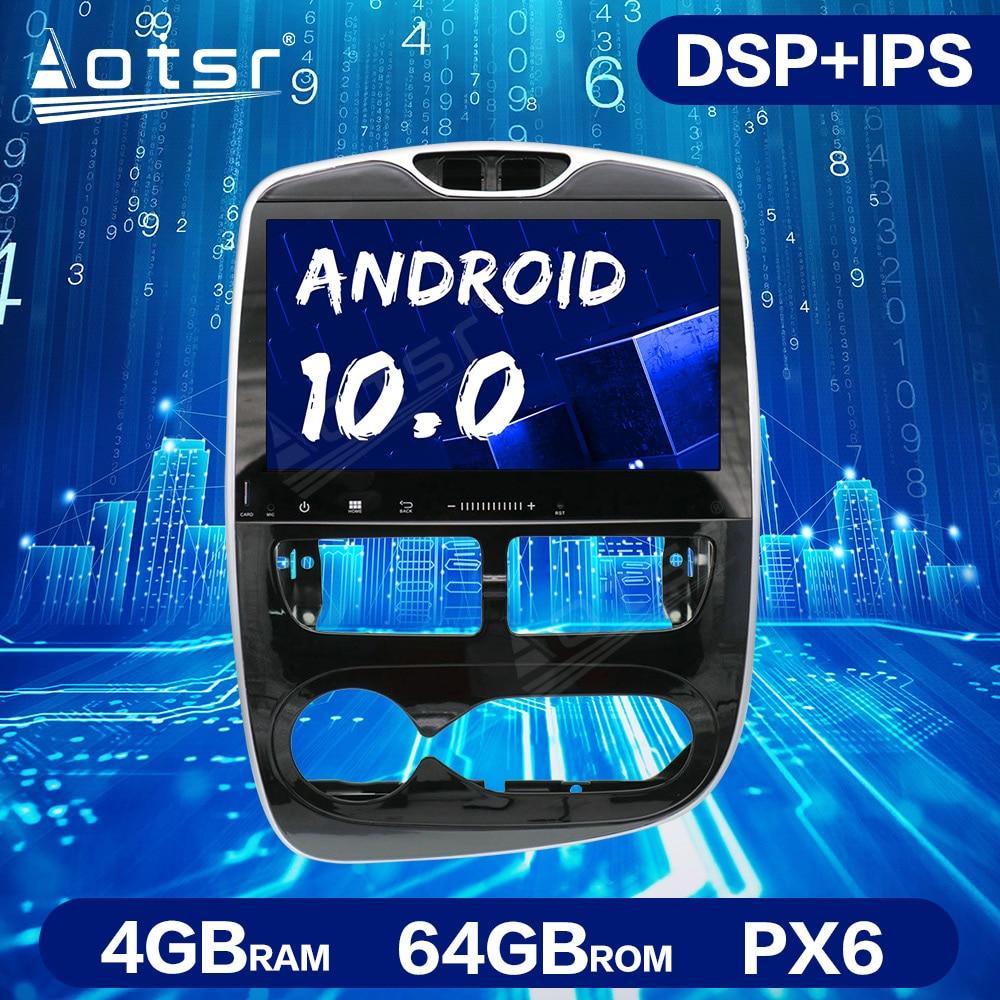 Unidad de navegación GPS para coche Android 10,0 PX6 64GB para Renault Clio 2013-2018, unidad principal estéreo, reproductor Multimedia, grabadora de cinta de Radio