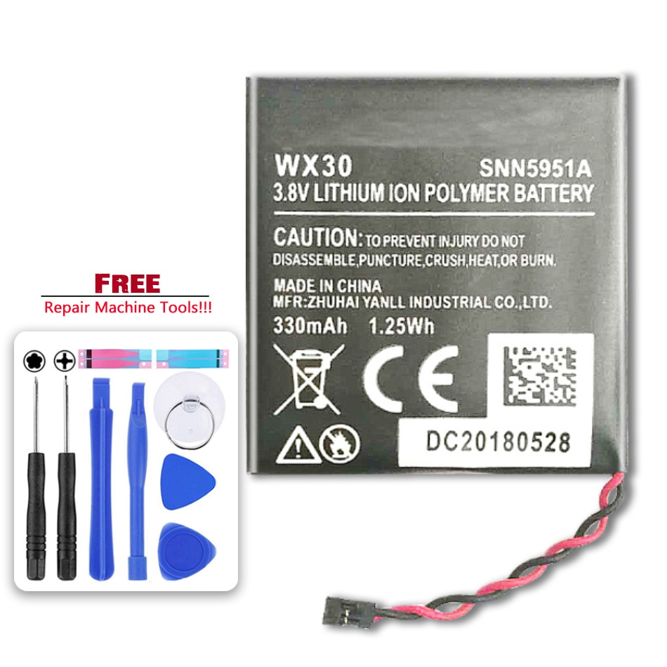 Batería de 300mAh WX30 SNN5951A para reloj inteligente Motorola Moto 360 (1ª generación)
