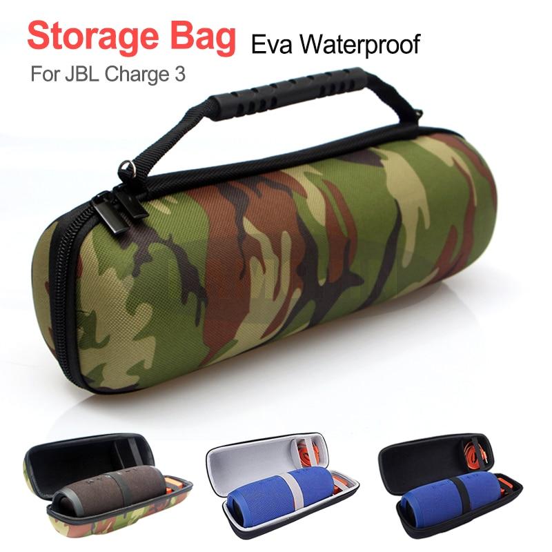 Para jbl charge3 caixa de armazenamento sem fio bluetooth alto-falante portátil saco caso eva difícil de transportar caso capa para jbl carga 3