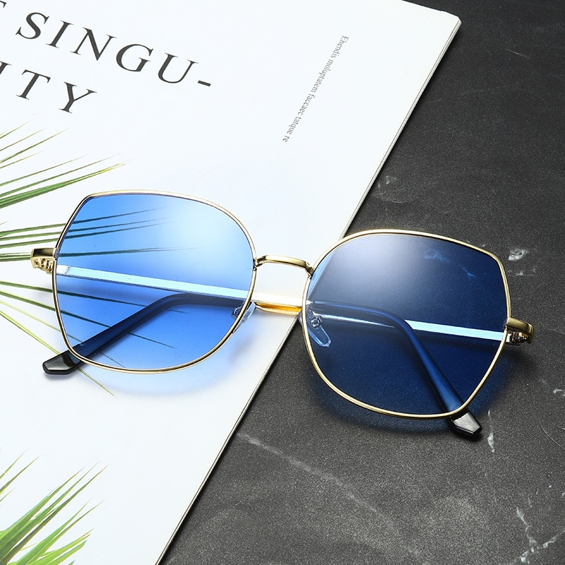 Sunglasses Women Gradient Fashion Shades Luxury Brand Design Sun Glasses Mental Frame Eyewear UV400 Women2020 Gafas De Sol Mujer