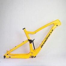 Pełne zawieszenie węgla wyścigi rowerów górskich XC rama MTB wysokiej jakości rama mtb przez oś 148*12 pełne zawieszenie wyścigi mtb Bike