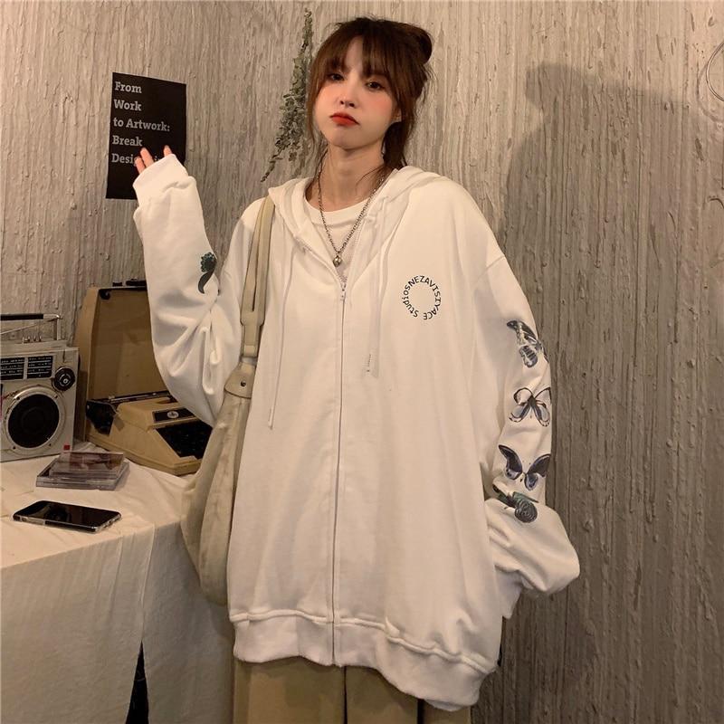 Hoodies Women Zipper Sweatshirt Cardigan For Women 2021 Autumn