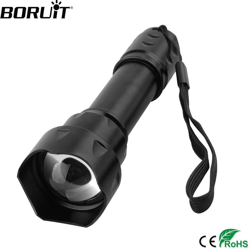 BORUiT T20 الأشعة تحت الحمراء IR 850nm للرؤية الليلية مصباح يدوي ليد للتكبير 18650 بطارية الشعلة IPX6 Waterprrof فانوس للصيد