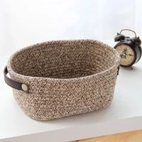 p82d hand woven cotton rope basket sundries storage container baskets for organizing sorting jewelry key w