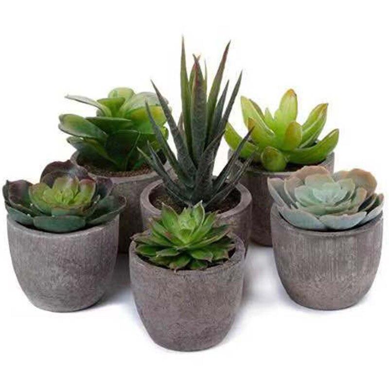 Artificial plantas suculentas falso Bonsai Artificial con macetas decorativas plantas flor Artificial Mini plantas