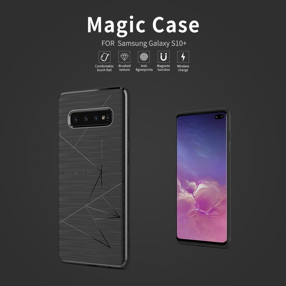 Funda protectora Nillkin Magic, carcasa trasera de TPU suave, brillante, delgada, magnética para iPhone XS Max XR 8 Plus, Samsung S9 S8 S10 Plus