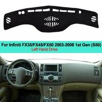 2 Layers Car Dashboard Cover for Infiniti FX35 FX45 FX50 2003 2004 2005 2006 2007 2008 LHD Pad Carpet Dashmat Sun Shade Pad Cape