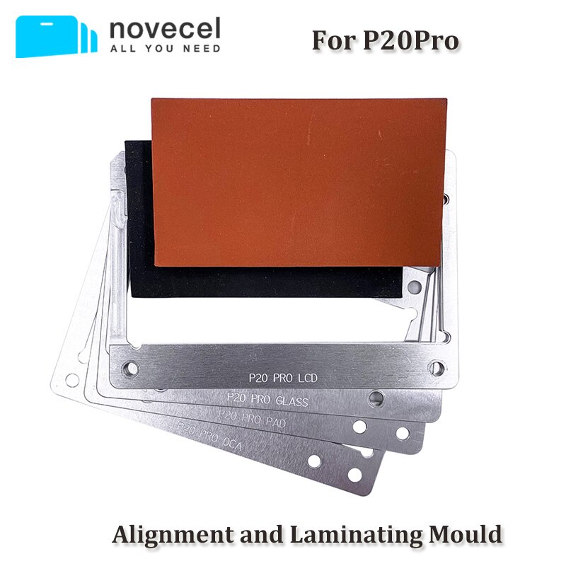 قالب تغليف شاشة LCD لهاتف Huawei P20 pro ، مناسب لـ Novecel Q5 A5 A6 YMJ ، زجاج شفاف OCA ، محاذاة وصفائحية