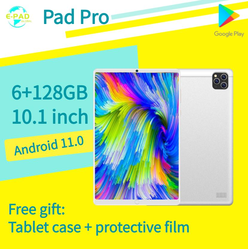 Pad Pro Tablet Android 11.0 6GB RAM 128GB ROM 10.1 inch tablet pc Game Tablet