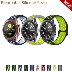 20mm 22mm Silicone Band Strap for Samsung Galaxy Watch3 41mm 45mm Replacement Watchband