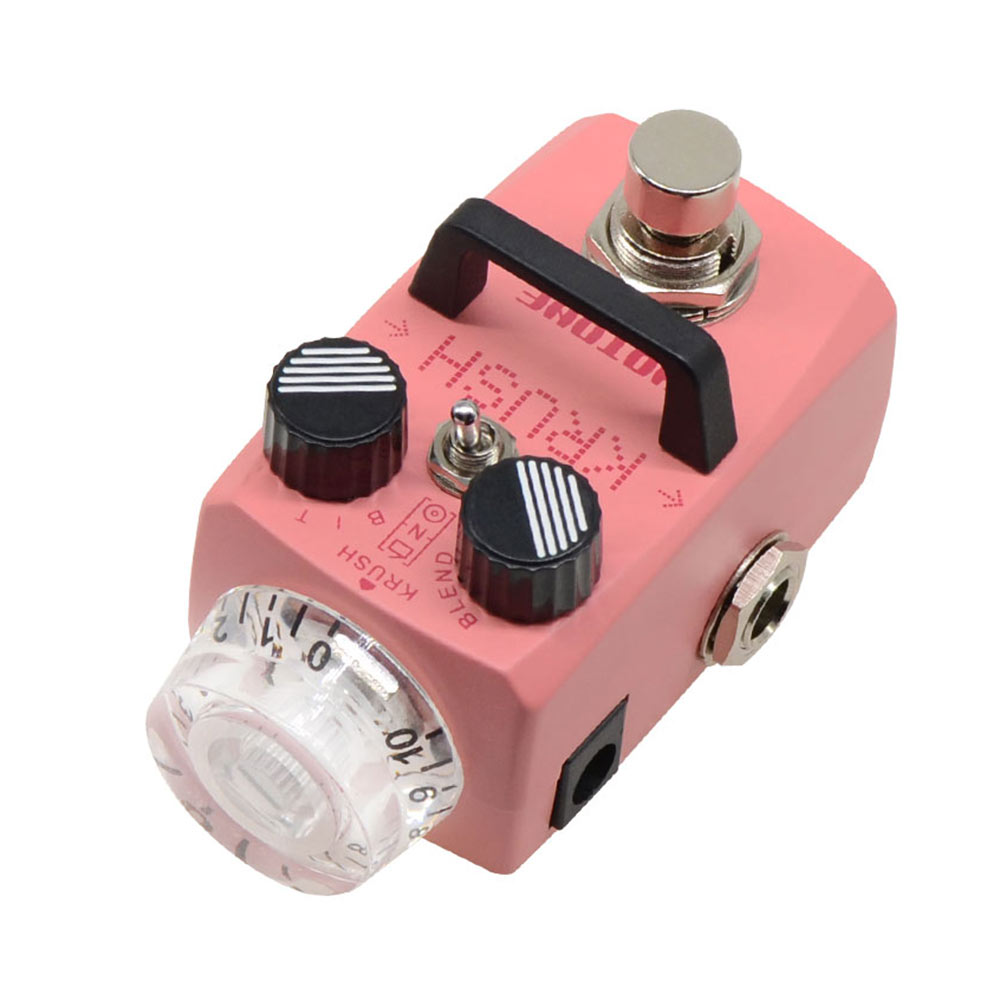 Hotone Krush Bitcrush Digital Bitcrusher Sampling Rate Sample Reducer Guitar Bass Synth Synthesizer LoFi Effects Pedal SSR-1 enlarge