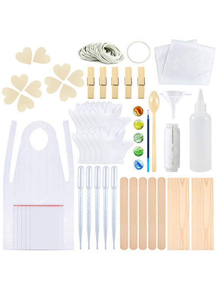 Laço-tintura ferramentas kits camiseta tecido com microplaquetas de madeira bandas de borracha luvas espremer garrafas aventais vários jogos de tie-dye para crianças adulto