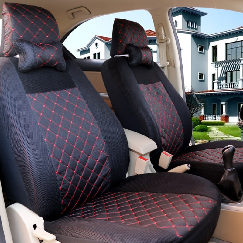 1-set de cubierta Universal de asiento de automóvil transpirable cinco fundas de asientos de coche almohadilla protectora General adecuada para la mayoría de los coches